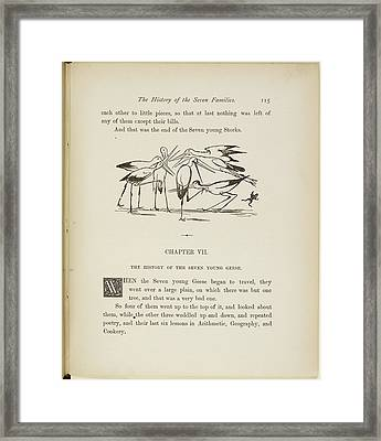 A Book Of Nonsense By Lear Framed Print