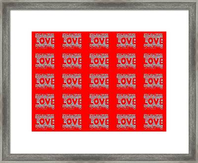 25 Affirmations Of Love In Red Framed Print