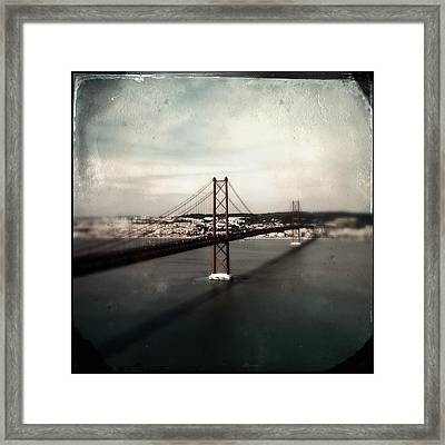 25 De Abril Bridge I Framed Print
