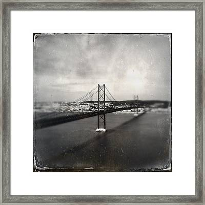 25 De Abril Bridge II Framed Print by Marco Oliveira