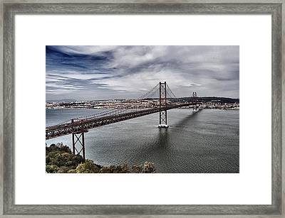 25 De Abril Bridge IIi Framed Print by Marco Oliveira