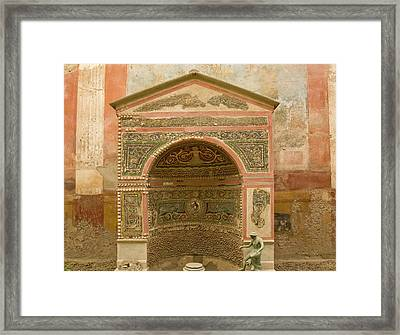 Italy, Campania, Pompeii Framed Print