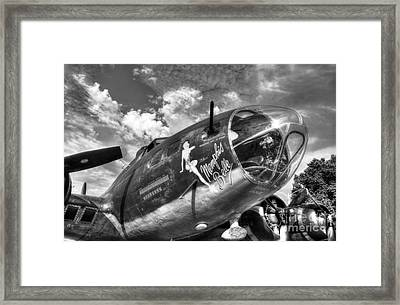 25 Missions Bw Framed Print by Mel Steinhauer