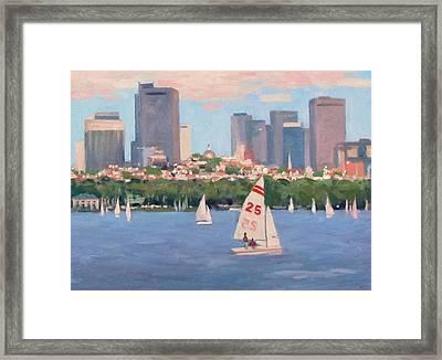 25 On The Charles Framed Print by Dianne Panarelli Miller