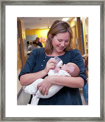 Paediatric Cardiology Ward Framed Print