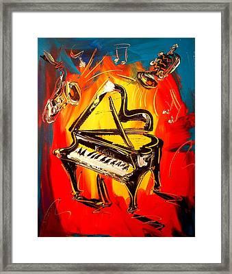 Piano Framed Print by Mark Kazav
