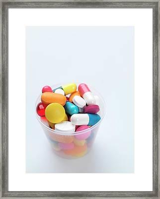 Pills Framed Print by Tek Image