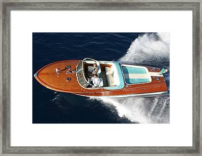 Riva Aquarama Framed Print