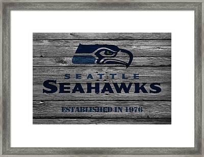 Seattle Seahawks Framed Print by Joe Hamilton