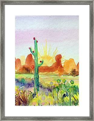 Southwestern Landscape Framed Print by Patricia Lazaro