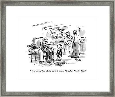 Why, Jimmy! Just What I Wanted! Grand Theft Auto Framed Print