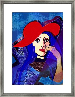 259 -  Lady With  Diamond Ring    Framed Print