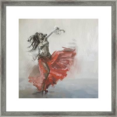 Belly Dancer 4 Framed Print