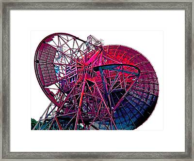 26 East Antenna Abstract 4 Framed Print