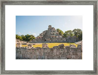 Edzna In Campeche Framed Print