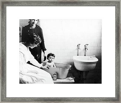 Immigrants Ellis Island Framed Print