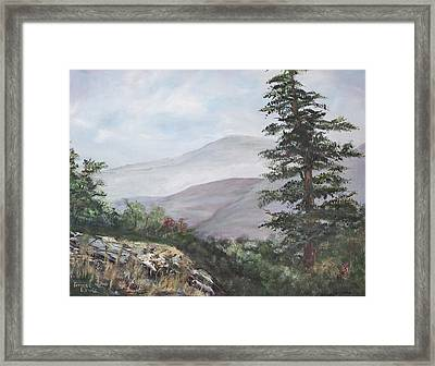 The Smokies Framed Print by Frances Lewis