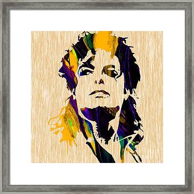 Michael Jackson Framed Print by Marvin Blaine