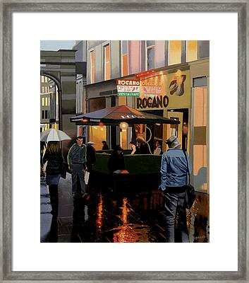 The Merchant City Framed Print by Malcolm Warrilow