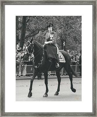 Trooping The Colour Ceremony Framed Print by Retro Images Archive