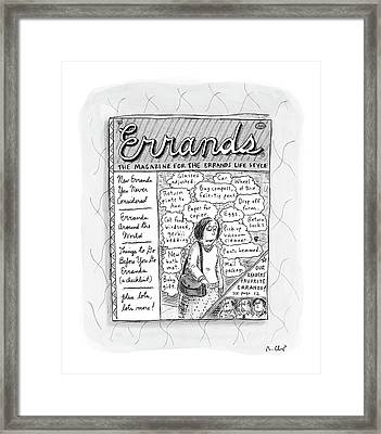 Errands The Magazine For The Errands Life Style Framed Print