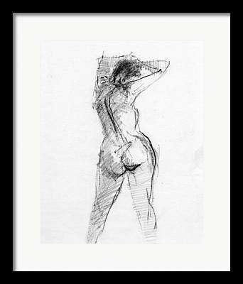Conte Drawings Framed Prints
