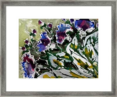 Zenmoksha Flowers Framed Print by Baljit Chadha
