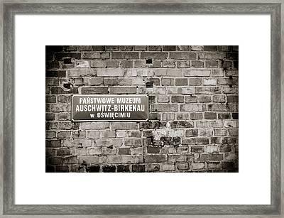 Auschwitz Framed Print by Mihai Ilie