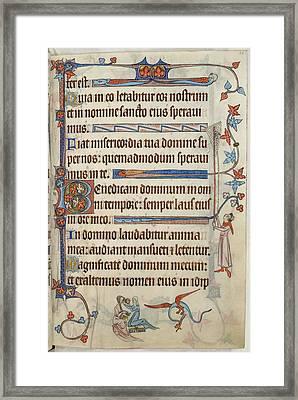 Luttrell Psalter Framed Print