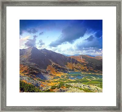 Mountains Landscape Framed Print by Michal Bednarek