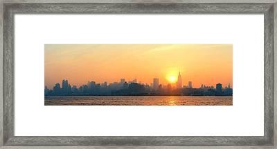 New York City Skyscrapers Framed Print