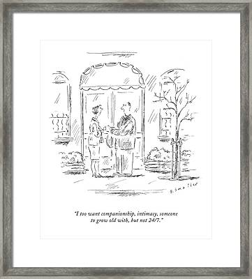 I Too Want Companionship Framed Print by Barbara Smaller