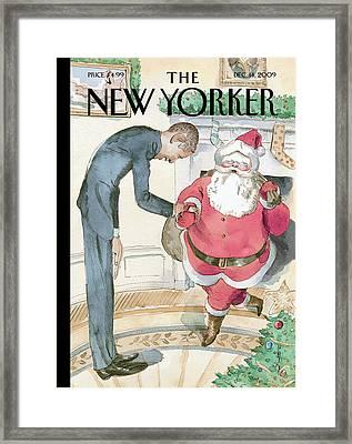 New Yorker December 14th, 2009 Framed Print by Barry Blitt