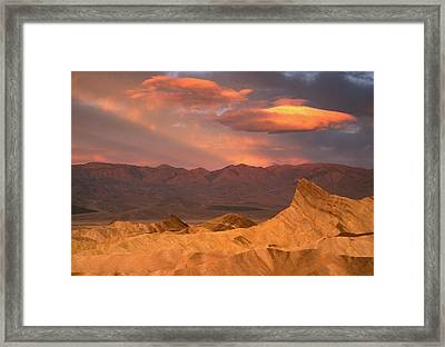 Usa, California, Death Valley National Framed Print