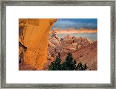 Usa, Utah, Arches National Park Framed Print