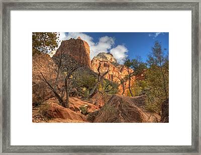 Zion National Park Utah Framed Print by Utah Images