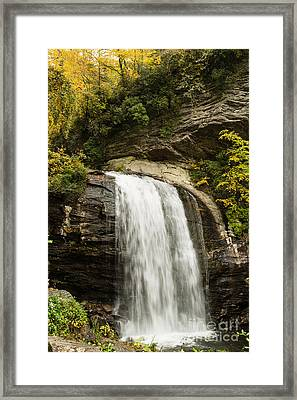 2718 Looking Glass Falls Framed Print by Stephen Parker