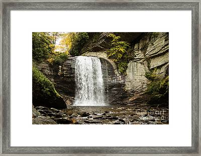 2722 Looking Glass Falls Framed Print by Stephen Parker