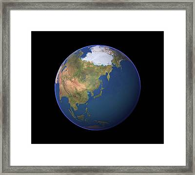 Earth Framed Print by Planetary Visions Ltd/science Photo Library
