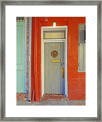 New Orleans Door Framed Print