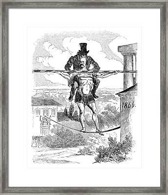 Prince Otto Von Bismarck (1815-1898) Framed Print by Granger