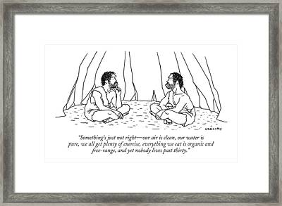 Something's Just Not Right - Our Air Is Clean Framed Print by Alex Gregory