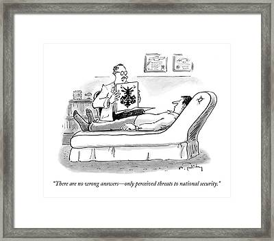 There Are No Wrong Answers - Only Perceived Framed Print by Mike Twohy