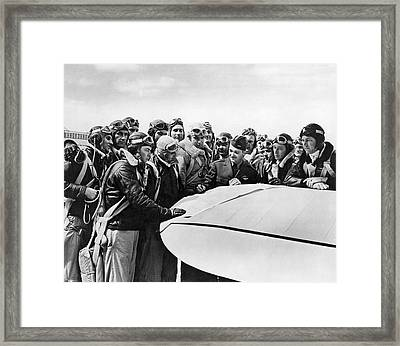 Navy Pilots Training Framed Print by Underwood Archives