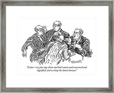 Listen - We Just Stay Silent Framed Print by William Hamilton