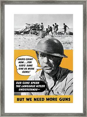 Wwii Poster, C1943 Framed Print by Granger
