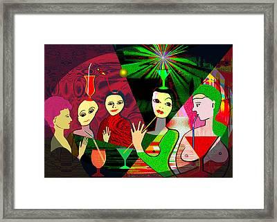 280 -  Wild Celebration   Framed Print by Irmgard Schoendorf Welch