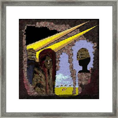 285 - Weapons   Framed Print by Irmgard Schoendorf Welch
