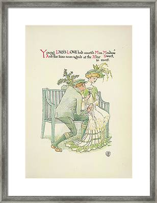 A Flower Wedding Framed Print by British Library