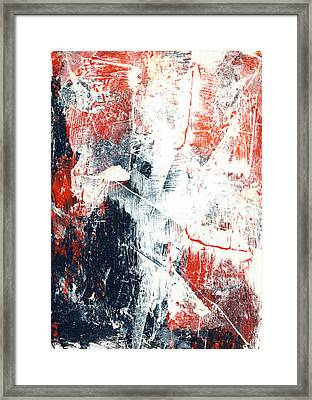 Moving On - Contemporary Abstract Painting Framed Print